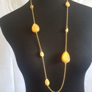 Gold necklace tangerine color